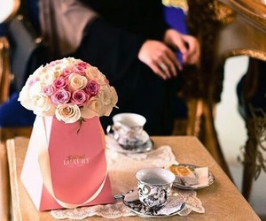 arab, bouquet, and coffee image