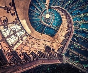 stairs, abandoned, and old image