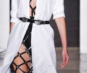 fashion, leather, and belt image