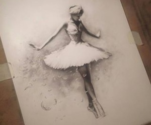 ballet, drawing, and pencil image
