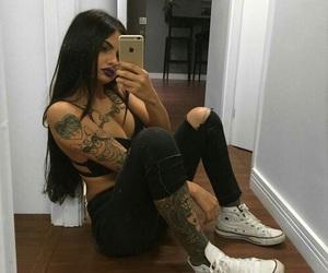 tattoo, makeup, and beauty image