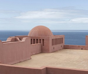 architecture, pink, and sea image