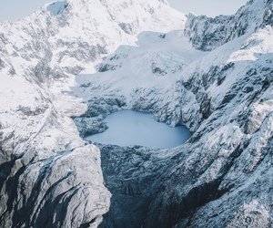aesthetic, mountains, and winter image