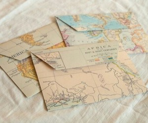 map, envelope, and letters image