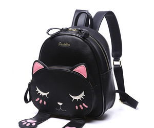 cat, backpack, and beautiful image