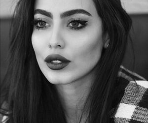 beauty, black and white, and fashionista image