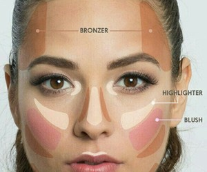 makeup, bronzer, and blush image