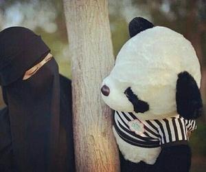 hijab, panda, and باندا image