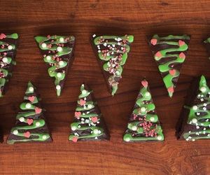 brownie, cake, and christmas image