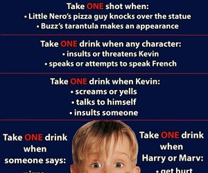 funny, home alone, and drinking games image