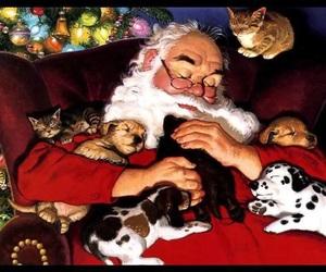 christmas, happy, and santa image