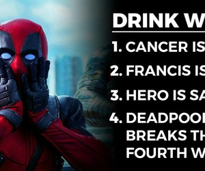 deadpool, funny, and drinking games image