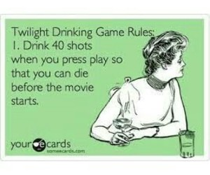 funny, twilight, and drinking games image