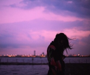 girl, alone, and sky image