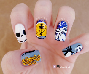 Halloween, jack, and nail art image
