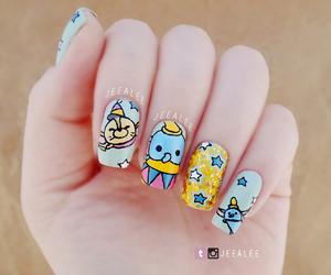 nails, dumbo, and nail art image