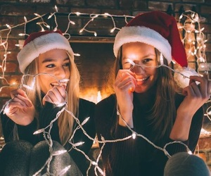 christmas, light, and friends image