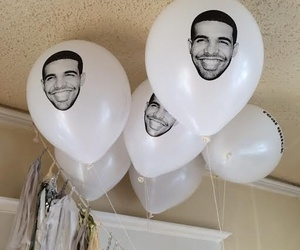 Drake and balloons image