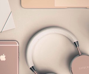 rose gold, iphone, and apple image