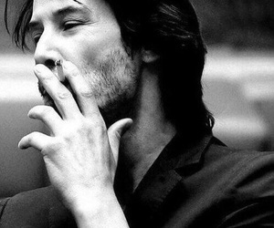 keanu reeves, beautiful, and cigarette image