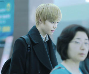 airport, blonde, and hansol image