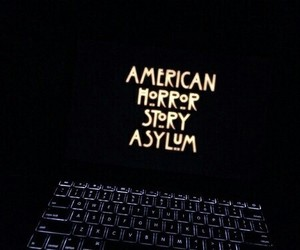 black, ahs, and gold image
