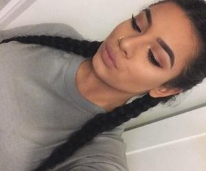 makeup, braids, and goals image
