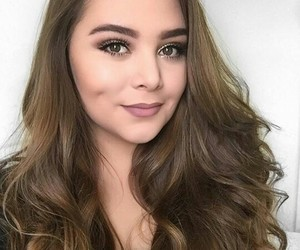 brown eyes, chic, and hair image