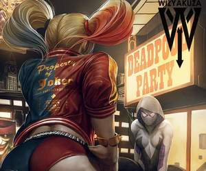 blonde, harley quinn, and Psycho image