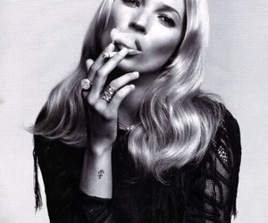 kate moss, model, and smoke image