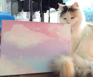cat, cute, and painting image