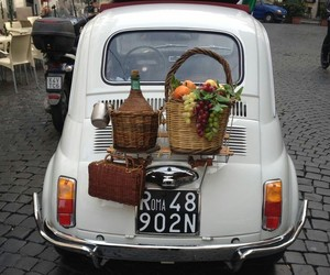 car, italy, and picnic image