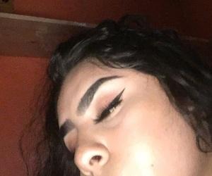 art, eyebrows, and girly image