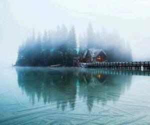 home, lake, and nature image