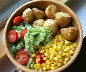 corn, food, and potato image