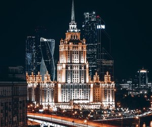 city, night, and russia image