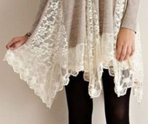 blouse, girl, and lace image