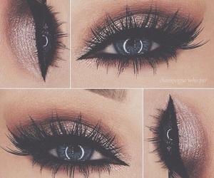 blue eyes, lashes, and eyes image