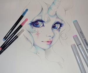 eyes and unicorn image