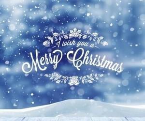 christmas, snow, and merry christmas image