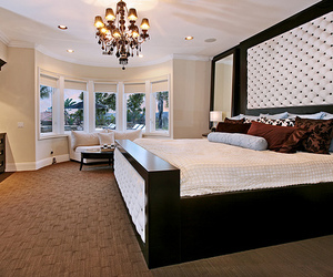 beautiful, luxury, and bed image