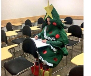 funny, christmas, and school image
