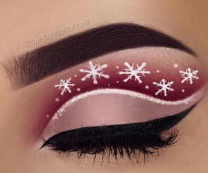 makeup, winter, and beauty image
