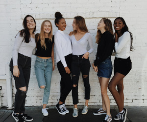 friendship, fashion, and girls image