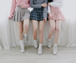 skirt, pink, and outfit image