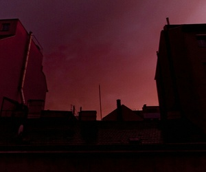 sky, red, and aesthetic image