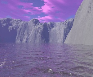 purple, water, and sky image