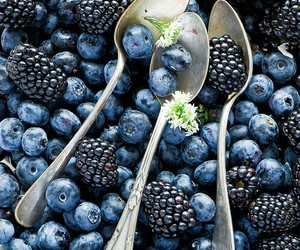 berries, food, and blueberry image