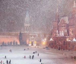 winter, snow, and moscow image