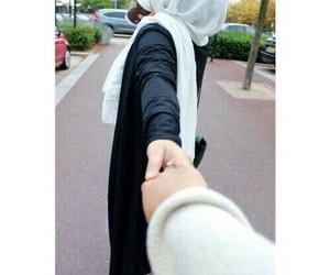 hijab, couple, and muslim image